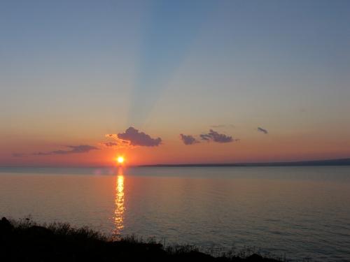 Sunrise at Keweenaw Bay, Lake Superior