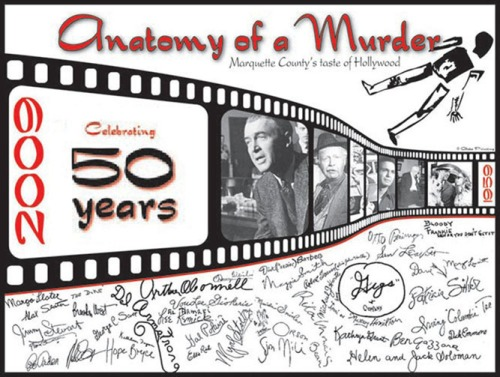 Anatomy's cast and crew autographs; artwork from www.marquettecountry.com