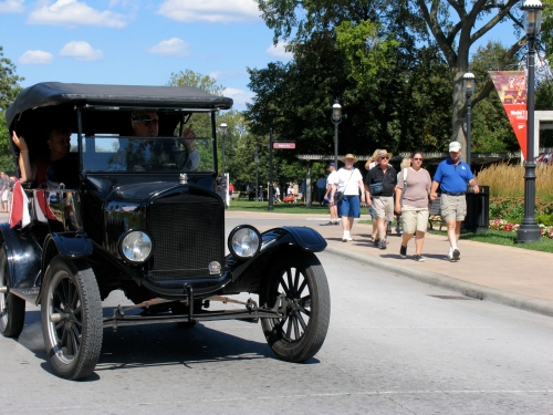 Take a Model T ride during Motor Muster at Greenfield Village this weekend