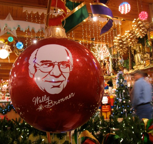 A larger than life tribute to the late and beloved Wally Bronner, founder of the massive CHRISTmas Wonderland
