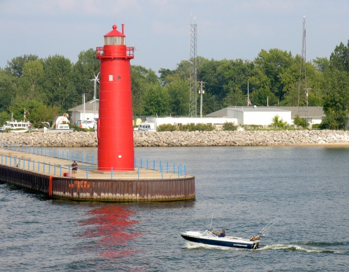 Manistique's South Pier Light