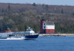 Round Island Lighthouse, near Mackinac Island