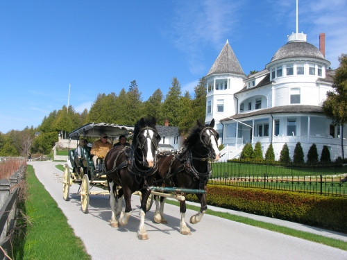 Horsing around on Mackinac Island, where cars are banned