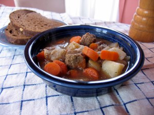 Mojakka, Finnish beef stew, is a hearty St. Urho's Day meal