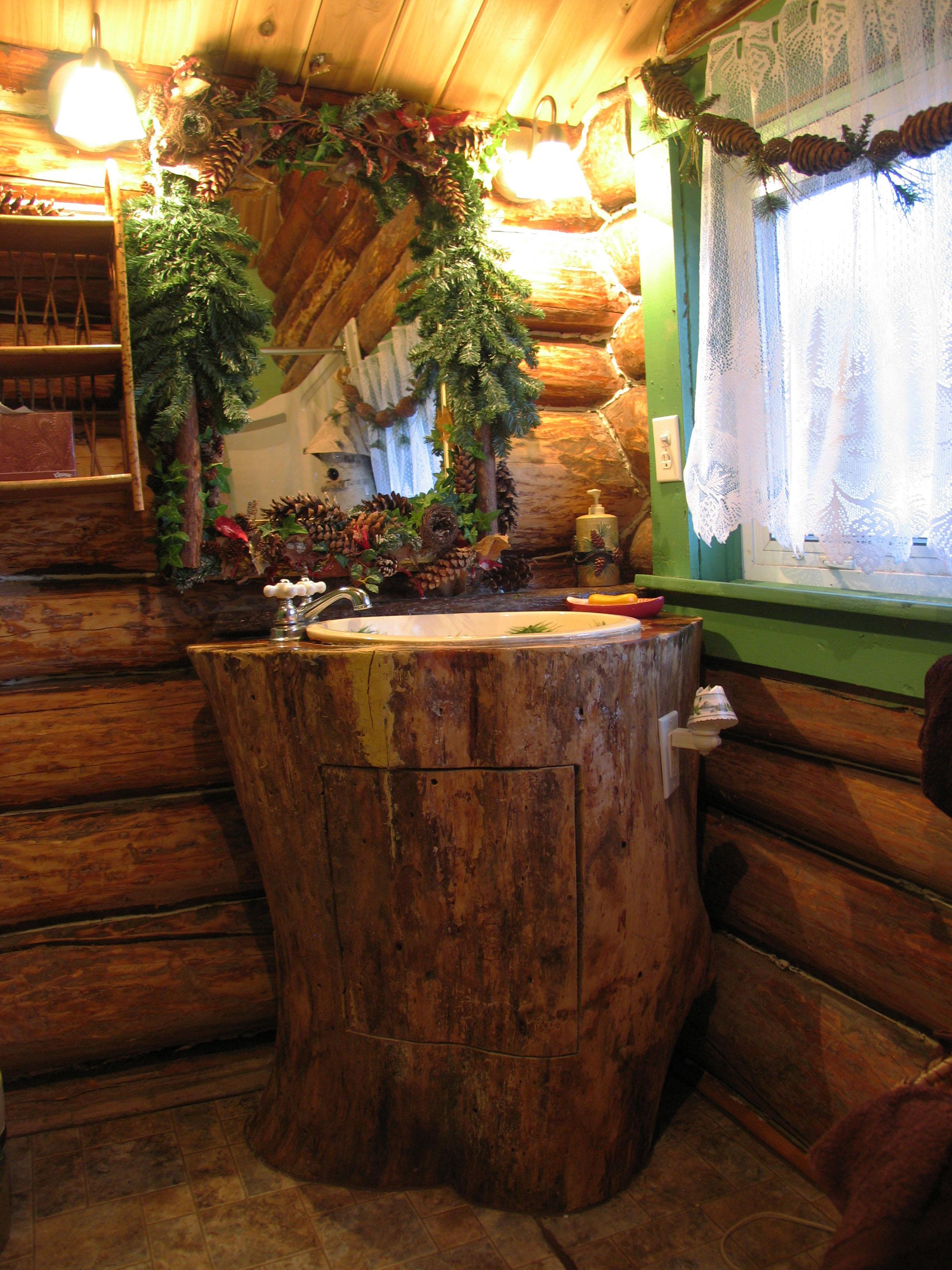 Log Cabin Bathroom Bathroom Design Ideas