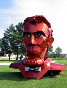 Gigantic Honest Abe, by Michigan metal artist Tom Moran