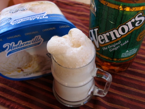 Vernors + Vanilla ice cream=Boston Cooler