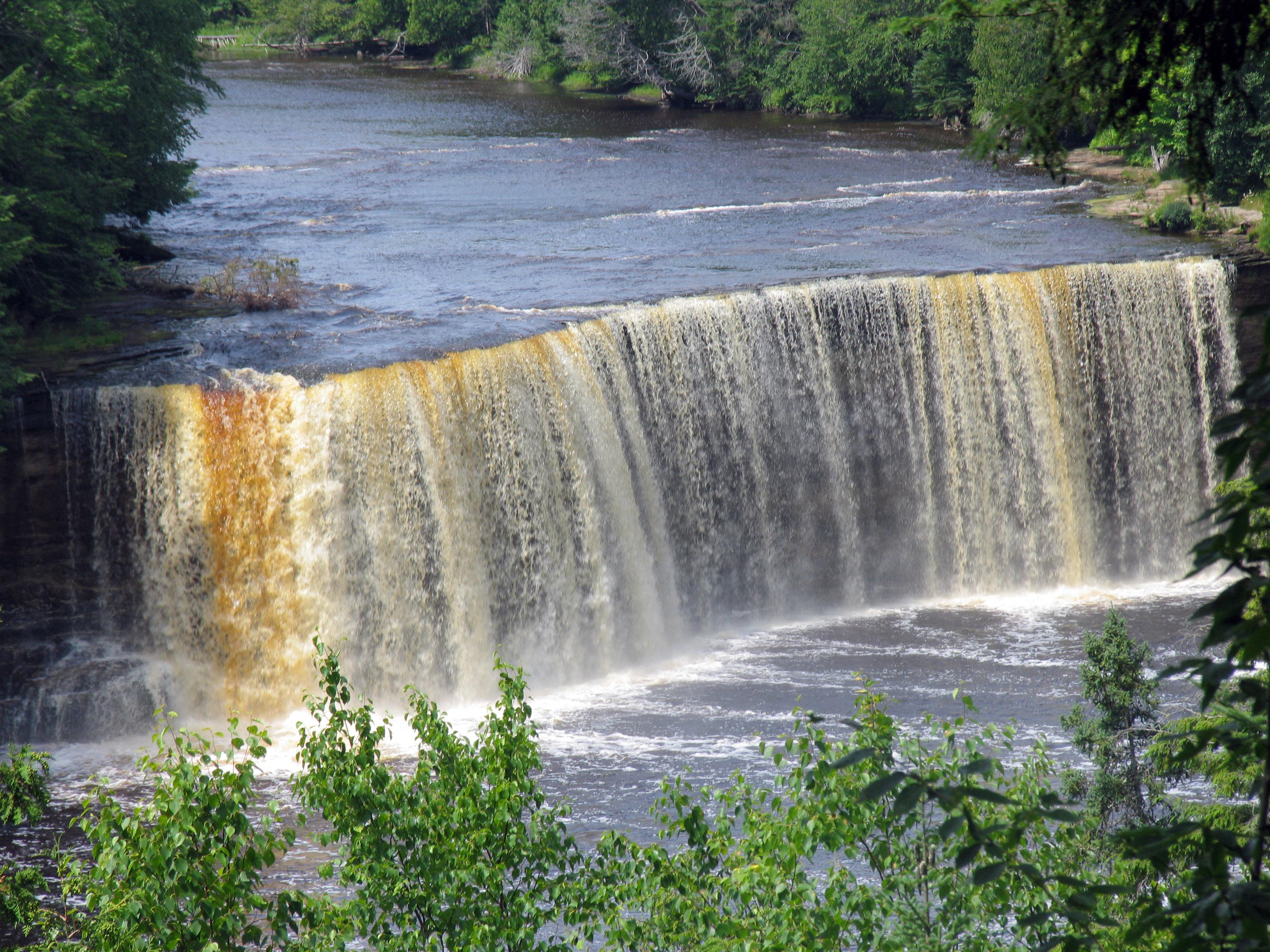Michigan Waterfalls Ocqueoc Falls Pres Queisle County Interactive