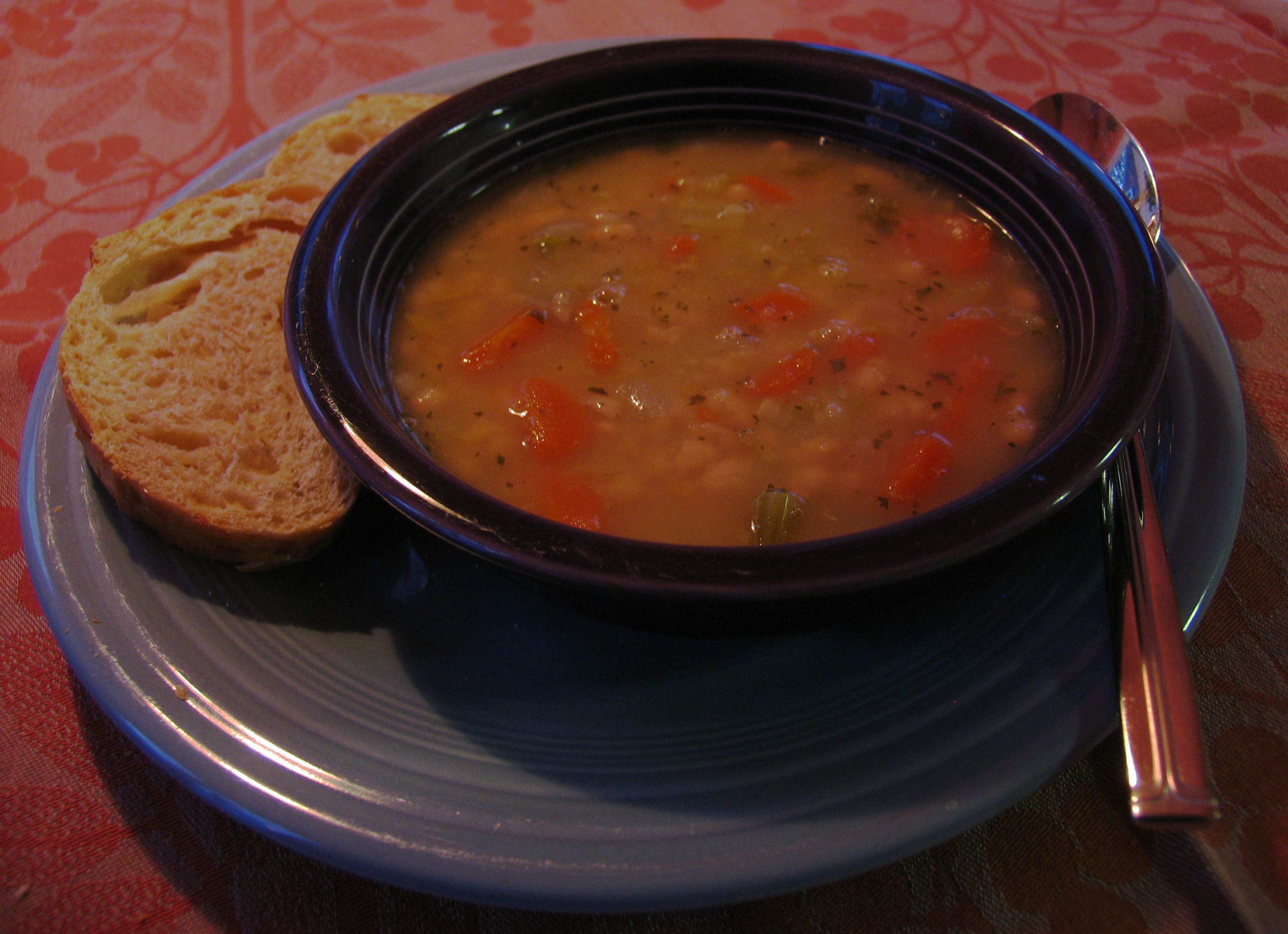 Michigan Navy beans star in this hearty soup; I added carrots to the ...