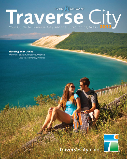 The cover of the 104-page guide, which is published by the Traverse City ...