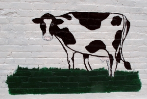 Mural, beautiful downtown Elsie, Michigan's Dairy Capital