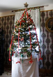 The Christmas tree in the farmhouse where a young Henry Ford grew up