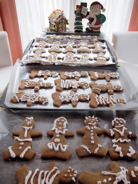 Last year's batch of gingerbread cookies