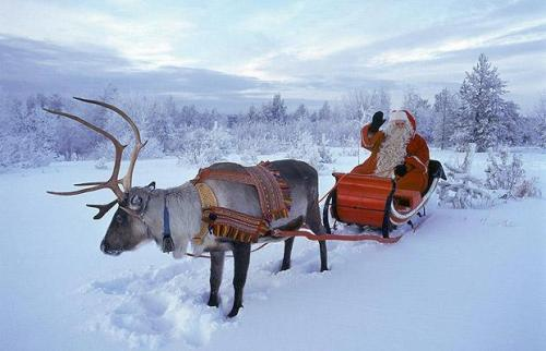 Santa at home in Finland (Santa Claus Village photo)