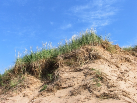Sand and sky meet above Lake Michigan at Sleeping Bear Dunes National Lakeshore