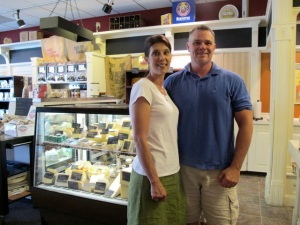 Erika and John Aylward at their Boulevard Market in Tecumseh, where they make chocolate, cheese and sell speciality foods and wine.