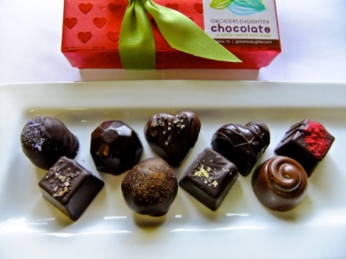 A sampling of the chocolate gems from Grocer's Daughter, Empire