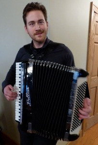 Sam and his squeeze box