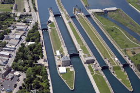 Two of the four locks are operational (USACE photo)