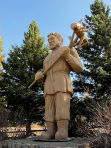 I was lucky enough to see the St. Urho statue on a trip through Minnesota last fall